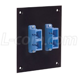 L-Com Global Connectivity - USP2FOPT-DSCB - Universal Sub-Panel, 2 Duplex SC Coupler