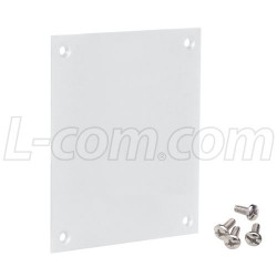 L-Com Global Connectivity - USP-P - Universal Plastic Blank Sub-Panel, White Color