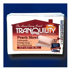 PBE (Principle Business Enterprises) - 2074 - Tranquility Peach Sheet Underpads 12/bag