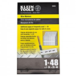 Klein Tools - 56250 - Klein Tools Wire Markers - Numbers 1-48
