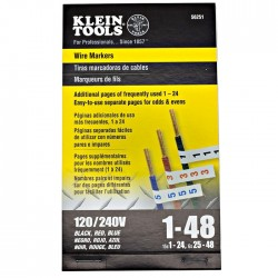 Klein Tools - 56251 - Klein Tools Wire Markers - 120/240V 3 Phase 1-48