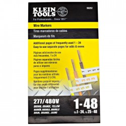 Klein Tools - 56252 - Klein Tools Wire Markers - 277/480V 3 Phase 1-48