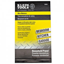 Klein Tools - 56254 - Klein Tools Wire Markers - Household Electrical Panel
