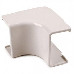 Hellermann Tyton - TSR1FW331 - HellermannTyton 3/4 Internal Corner Cover 1 Bend Radius - Bag of 10 - Office White