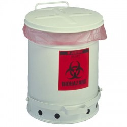 Justrite - 945BIO - Biohazardous Waste Cans