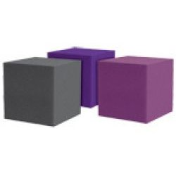Auralex Acoustics - 12CUBECHA - CornerFills -Cube - Studiofoam Acoustic Absorbers - (Charcoal Gray)