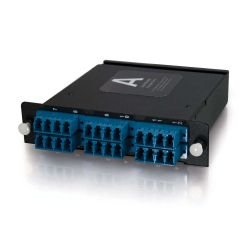 C2G (Cables To Go) - 39140 - C2G Q-Series 12-Strand MTP/MPO-LC Single-Mode Module - 24 x LC - 24 Port(s) - 24 x RJ-11 - 24 x
