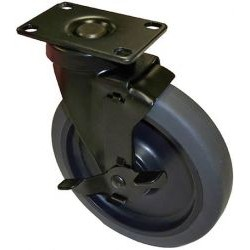 AVFI - 6 CASTERX5 - VFI Caster - 6 Diameter - Metal, Rubber