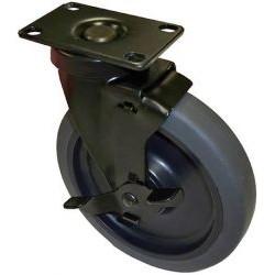 AVFI - 6 CASTERX6 - VFI Caster - 6 Diameter - Metal, Rubber