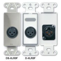 Radio Design Labs (RDL) - DSXLR3F - RDL XLR 3-pin Female Jack on Decora Wall Plate Solder Type
