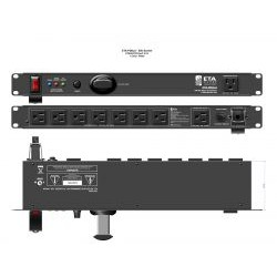 Atlas Sound - ETA-PD8LA - 9 Outlet / 15A Rackmount Power Distribution with Light