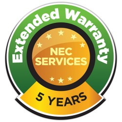 NEC - EXTWRMX-5Y-21 - NEC Display Warranty/Support - 5 Year Extended Warranty - Warranty - Service Depot - Maintenance - Labor - Physical Service - 3 Business Day - Shipped