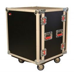 Gator Cases - G-TOUR SHK12 CA - ATA Shock Wood Flight Rack Case (12U) w/ Casters