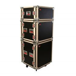 Gator Cases - G-TOUR SHK8 CAS - ATA Shock Wood Flight Rack Case (8U) w/ Casters