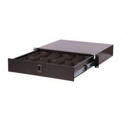 "Gator Cases - GE-MIC 10-DRWR - Rack Drawer (2RU, 14.2"" Deep) - Lockable, Interior Insert for 10 Microphones"