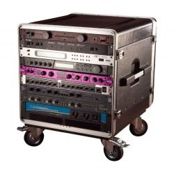 Gator Cases - GRC-BASE-10 - Rack Base w/ Casters for Console Audio Racks (10RU Top, 21 Deep)