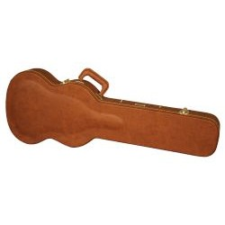 Gator Cases - GW-SG-BROWN - Deluxe Wood Case for SG-Style Guitars; Vintage Brown Exterior