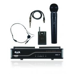 CAD Audio - GXLVBBJ - CAD Audio GXLVBBJ Wireless Microphone System - 50 Hz to 18 kHz Frequency Response - 350 ft Operating Range