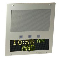 Advanced Network Devices - IPSWD - White Ip Clock/ip Speaker And Multi Color Led Display
