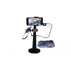 Que Audio - IQ-RIG-W - Rig and Microphone Kit with Wombat for iPhone, Android or Windows Smartphone