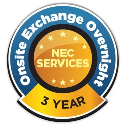 NEC - ONSTEMX-3Y-18 - NEC Display Onsite Exchange Overnight - 3 Year Extended Warranty - Warranty - On-site - Exchange - Electronic and Physical Service - Call must be received by 3pm EST, Freight