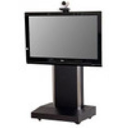 AVFI - TP1000-S WHL - Mobile Telepresence Stand with Single Monitor Mount (White)