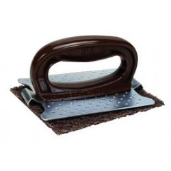 3M - 61500015229-EA - 3M 4 1/2 X 5 1/2 Scotch-Brite Brown Griddle Pad (For Use With 482 Pad Holder), ( Each )