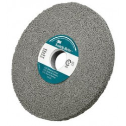 3M - 61500126679 - 3M 6' X 1/2' X 1' Fine Grade 8 Density Silicon Carbide Scotch-Brite EXL Gray Non-Woven Deburring Convolute Wheel
