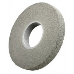 3M - 61500046976 - 3M 14 X 1 X 8 Fine Grade Silicon Carbide Scotch-Brite EXL Gray Non-Woven Deburring Convolute Wheel, ( Each )