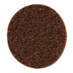 3M - 61500049392 - 3M 4' X No Hole Coarse Grade Aluminum Oxide Scotch-Brite Roloc Brown TR Non-Woven Surface Conditioning Disc With Screw-On Mount
