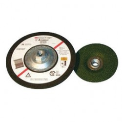 3M - 60440126096-CA - 3M 4 1/2 X 1/8 X 5/8 - 11 Green Corps 36 Grit Ceramic Type 27 Grinding Wheel, ( Case of 40 )