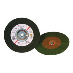 3M - 60440126161-EA - 3M 4 1/2 X 1/4 X 5/8 - 11 Green Corps Zirconia 36 Grit Ceramic Type 27 Depressed Center Grinding Wheel, ( Each )