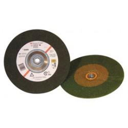 3M - 60510026838-CA - 3M 9 X 1/4 X 7/8 Green Corps 24 Grit Ceramic Type 27 Depressed Center Combination Wheel, ( Case of 20 )