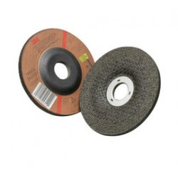 3M - 60440126146-CA - 3M 4 1/2 X 1/4 X 7/8 Green Corps 34 Grit Ceramic Type 27 Depressed Center Combination Wheel, ( Case of 40 )