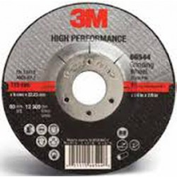 3M - 60440282667-EA - 3M 7 X 1/4 X 7/8 HIGH PERFORMANCE 36 Grit Ceramic Type 27 Depressed Center Grinding Wheel, ( Each )