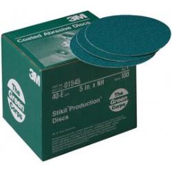 3M - 60650003738-CA - 3M 6 X No Hole 40E Grit 251U Green Corps Stikit Production Aluminum Oxide Coarse Grade Open Coat PSA Disc (5 Per Case), ( Case of 5 )