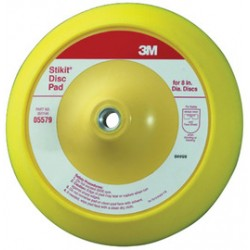 3M - 60980006419 - 3M 8 X 1 X 5/8 - 11 Foam Stikit Yellow Medium Density Disc Pad (For Use With Slow Speed Polisher/Grinder), ( Each )