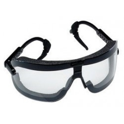3M - 70071542396-EA - 3M Fectoggles Dust Goggles With Black Frame And Clear Anti-Fog Lens, ( Each )