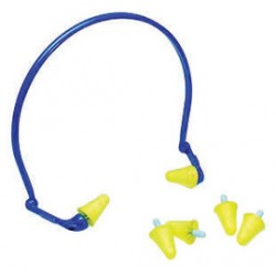 3M - 70071521200-BX - 3M E-A-Rflex Blue And Yellow Multi Position Banded Earplugs, ( Box of 10 )