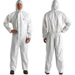 3M - XL451000092-CA - 3M 3X White Polypropylene/Polyethylene Disposable Coveralls, ( Case of 20 )