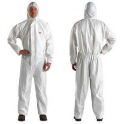 3M - XL451000076-CA - 3M X-Large White Polypropylene/Polyethylene Disposable Coveralls, ( Case of 20 )