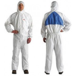 3M - XL454000065-CA - 3M 4X White Polypropylene/Polyethylene Disposable Coveralls, ( Case of 20 )