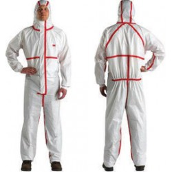 3M - XL457000278-EA - 3M X-Large White Polypropylene/Polyethylene Disposable Coveralls, ( Each )