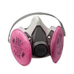 3M - 70070614428 - Half Facepiece Respirator Assembly P100 6191/07001 Small, with Particulate Filters 2091/07000