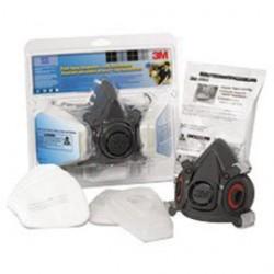 3M - 70005080984 - 3M Large Tekk Protection Half Mask Dual Cartridge Paint Project Respirator Kit With (1) Pair 6001 Cartridges And (2) Pair 5P71 Filter