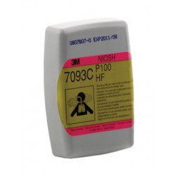 3M - 70071401262 - 3M Nuisance Level Hydrogen Fluoride/Organic Vapors P100 APR Cartridge For 6000, 7500 And 7800 Series Respirators, ( Case )