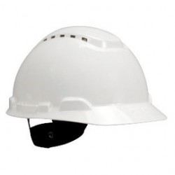 3M - 70071578028-CA - 3M White H-Series HDPE Short Brim Cap Style Vented Hard Hat With 4 Point Ratchet Suspension, ( Case of 20 )