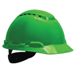 3M - 70071578051-CA - 3M Green HDPE Cap Style Hard Hat With 4 Point Ratchet Suspension, ( Case of 20 )