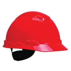 3M - 70071577962-CA - 3M Red HDPE Cap Style Hard Hat With 4 Point Ratchet Suspension, ( Case of 20 )