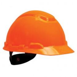 3M - 70071577988-CA - 3M Hi-Viz Orange H-Series HDPE Short Brim Cap Style Unvented Hard Hat With 4 Point Ratchet Suspension, ( Case of 20 )